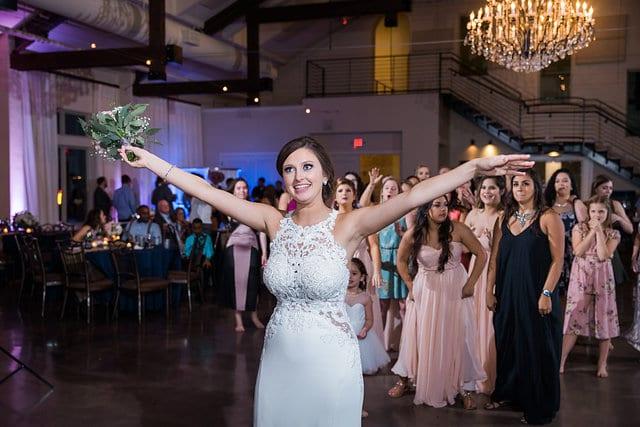 Samantha Wedding Hidden Falls bouquet toss