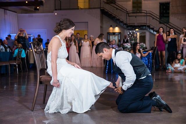 Samantha Wedding Hidden Falls garter grab