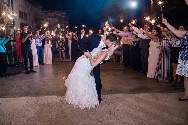Samantha Wedding Hidden Falls sparkler dip