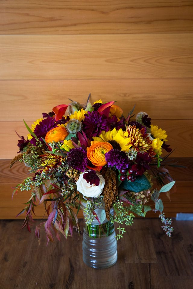 ft worth wedding fall bouquet
