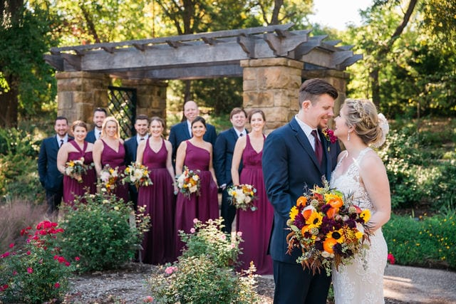 Ft Worth wedding garden shot