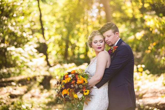 Ft Worth wedding garden snuggle