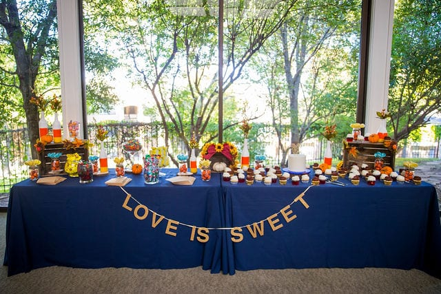 Ft Worth wedding candy table Stonegate