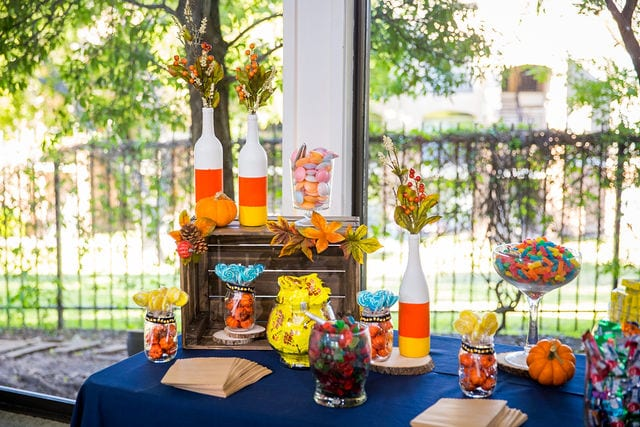 Ft Worth wedding fall decor Stonegate Mansion