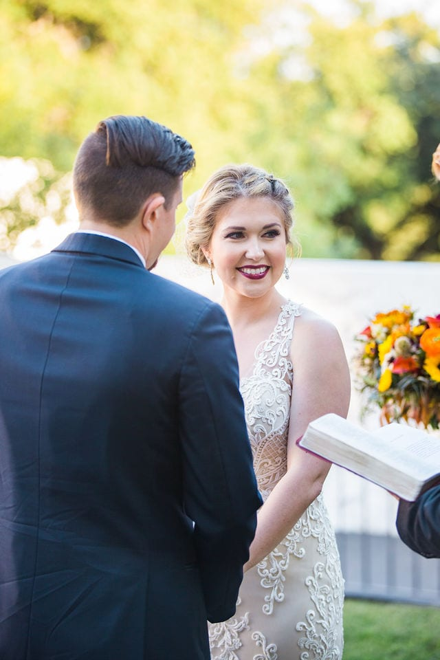 Ft Worth wedding bride face Stonegate Mansion