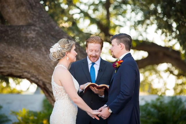Ft Worth wedding vows Stonegate Mansion