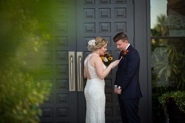Ft Worth wedding late vows Stonegate Mansion