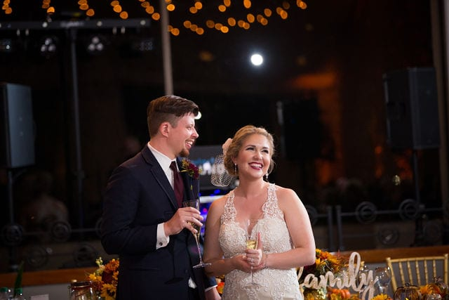 Ft Worth wedding toasts Stone gate