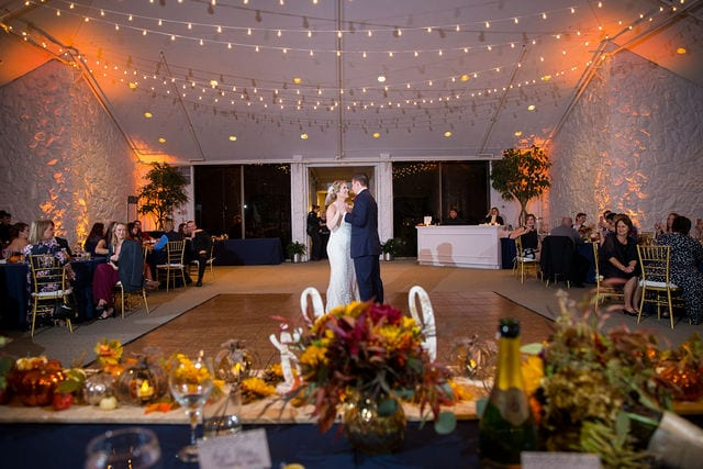 Ft Worth wedding first dance Stonegate Mansion