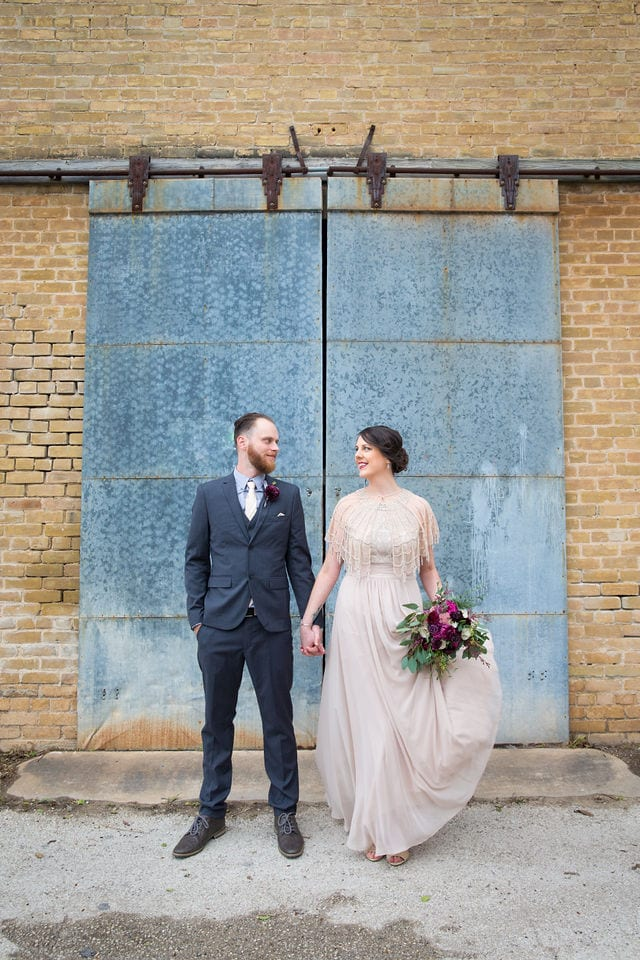 Lauren wedding Seekatz tin barn doors