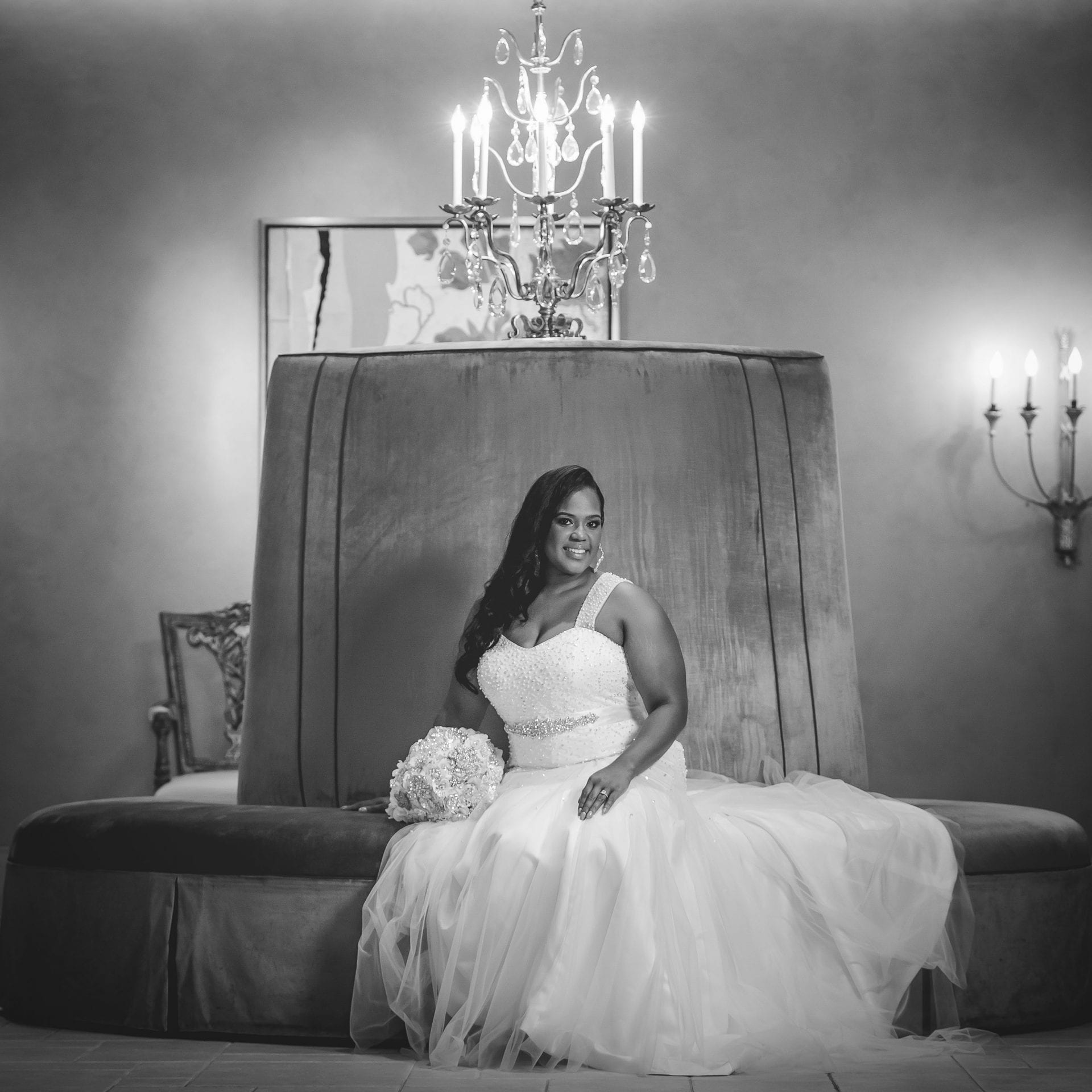 Allie's bridal on the big green chair