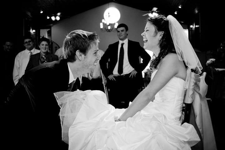 Kimber's Garter removal at the wedding
