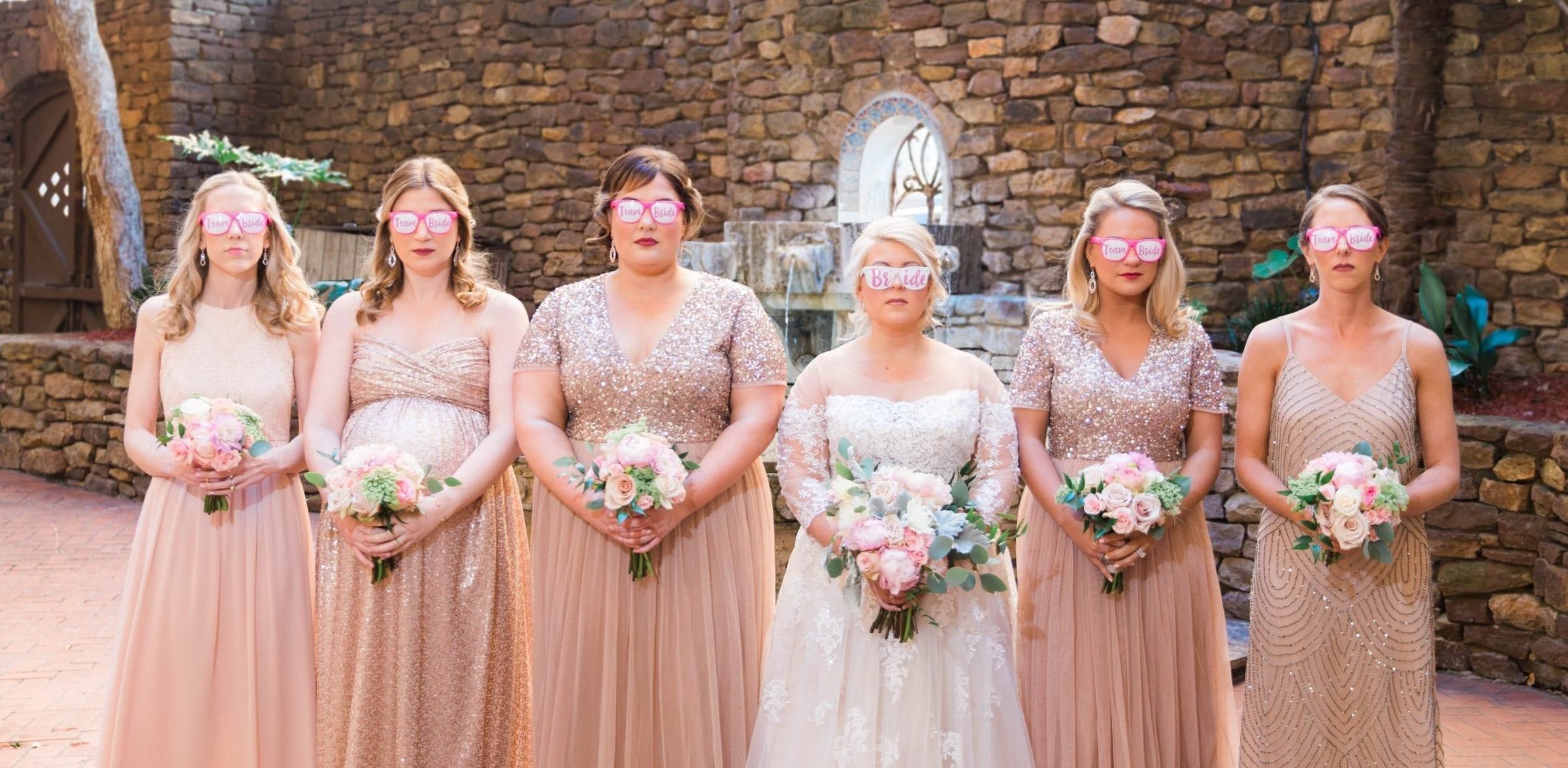 Crawford wedding Omni Del Mansion riverwalk bridesmaids serious