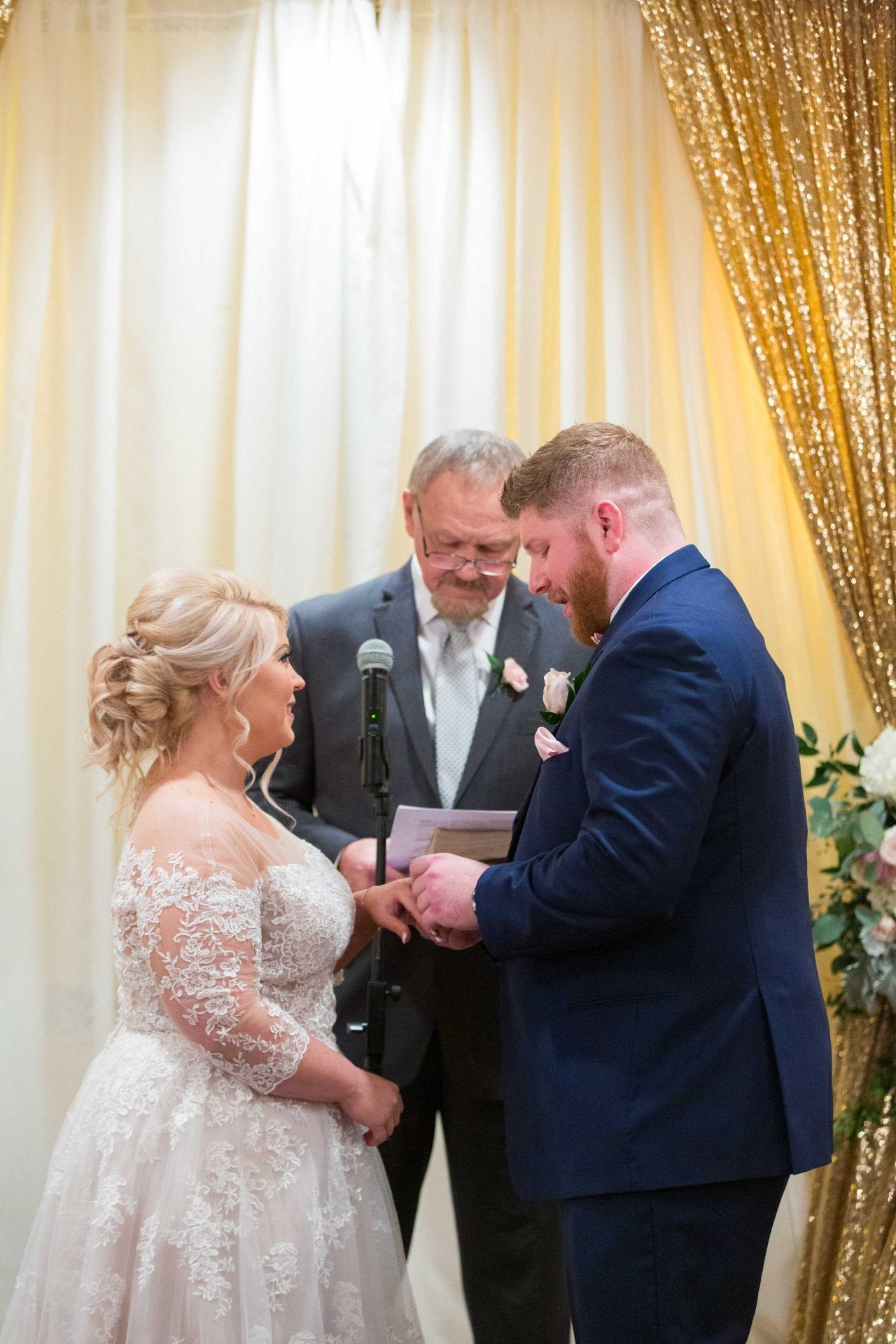 Crawford wedding Omni Del Mansion riverwalk ring exchange