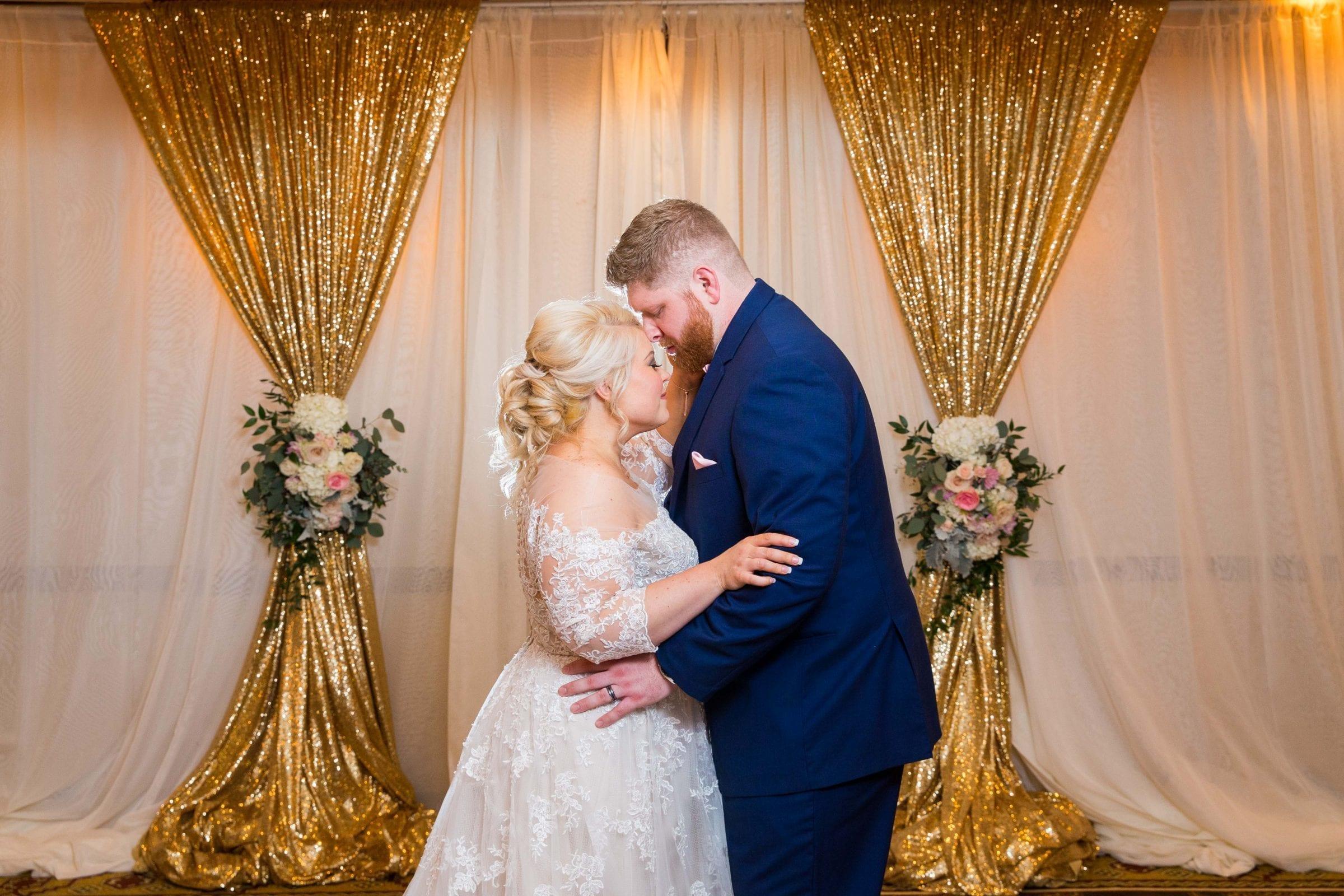 Crawford wedding Omni Del Mansion riverwalk kiss in room