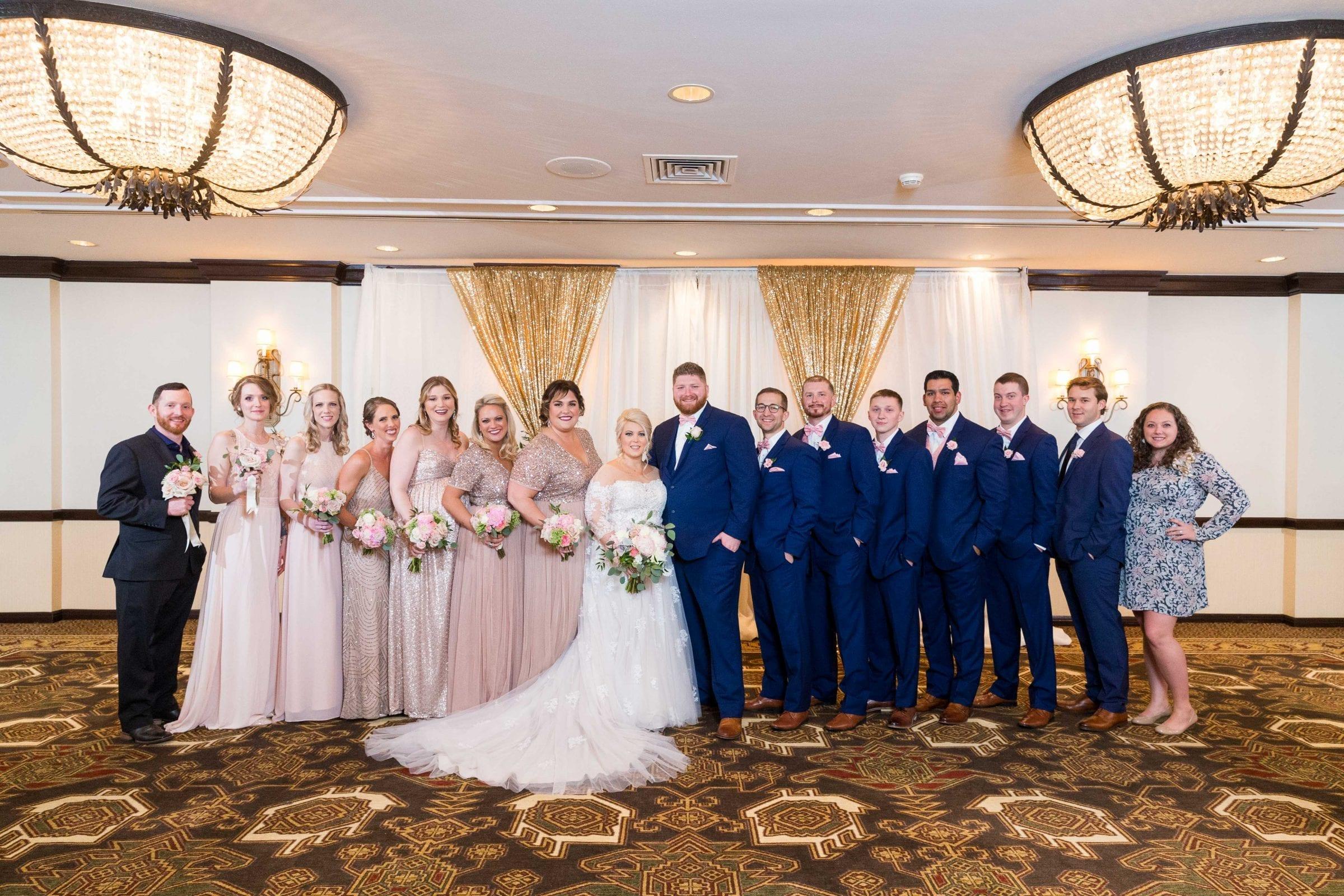 Crawford wedding Omni Del Mansion riverwalk bridal party