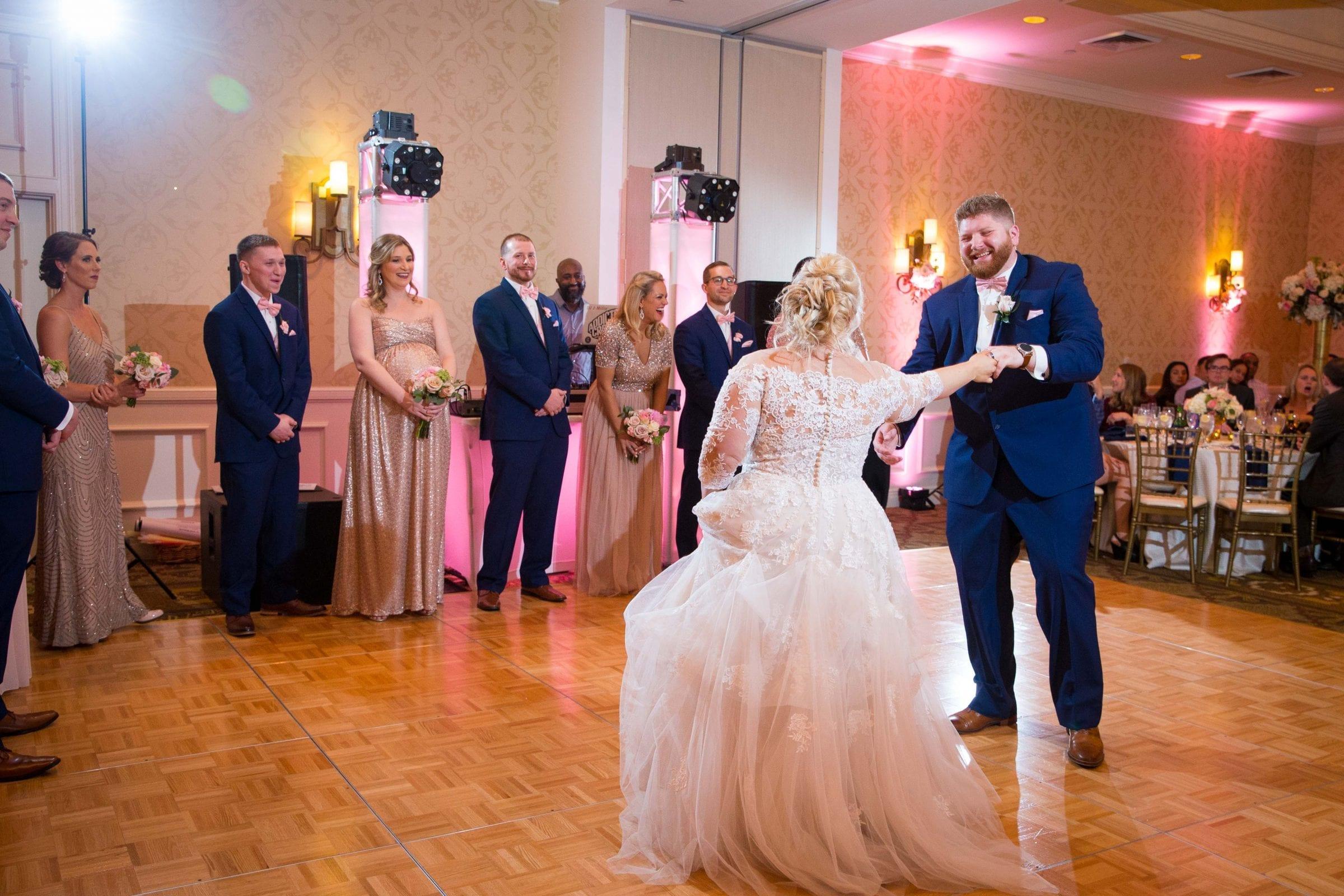 Crawford wedding Omni Del Mansion riverwalk first dance boogie