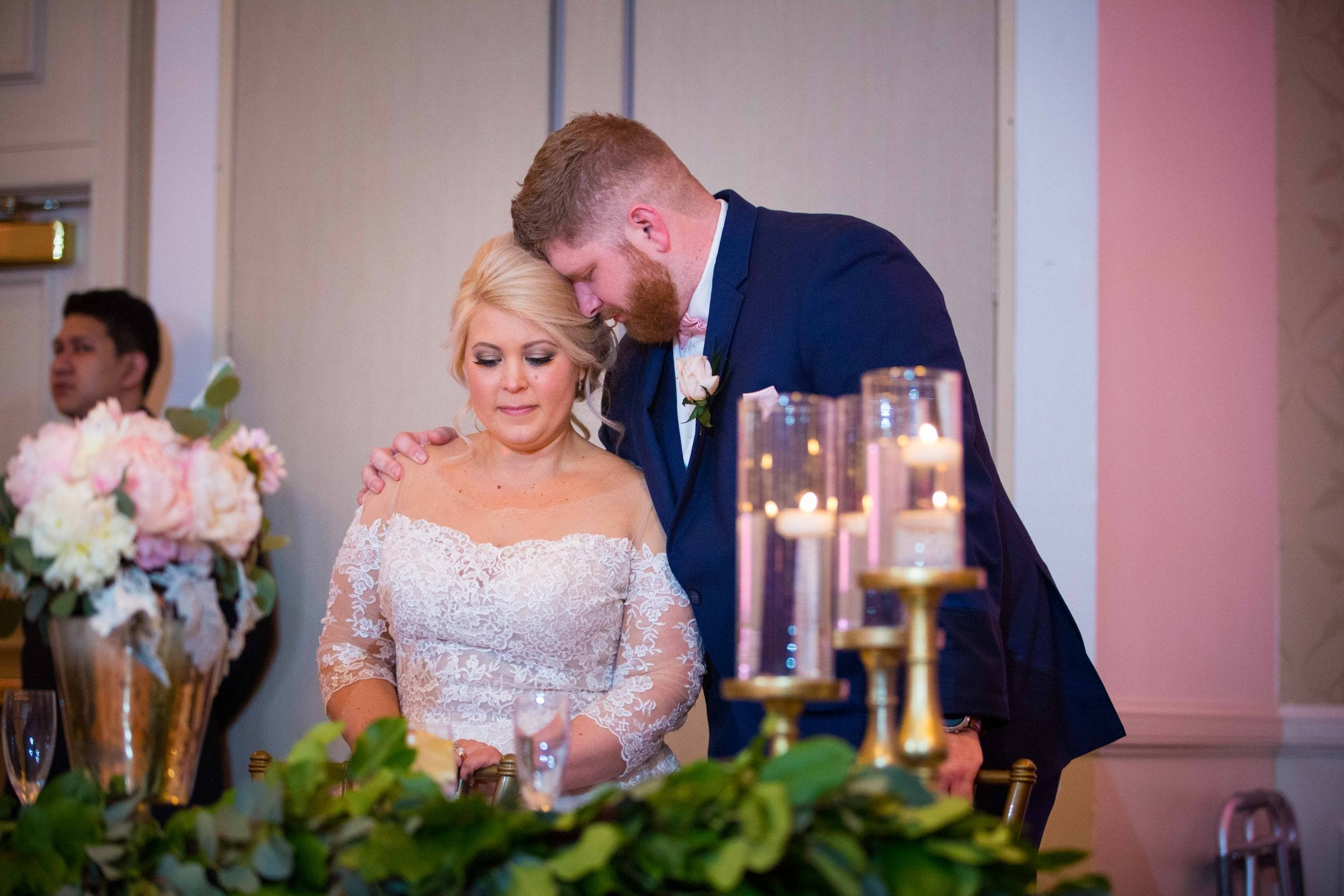 Crawford wedding Omni Del Mansion riverwalk dinner prayer
