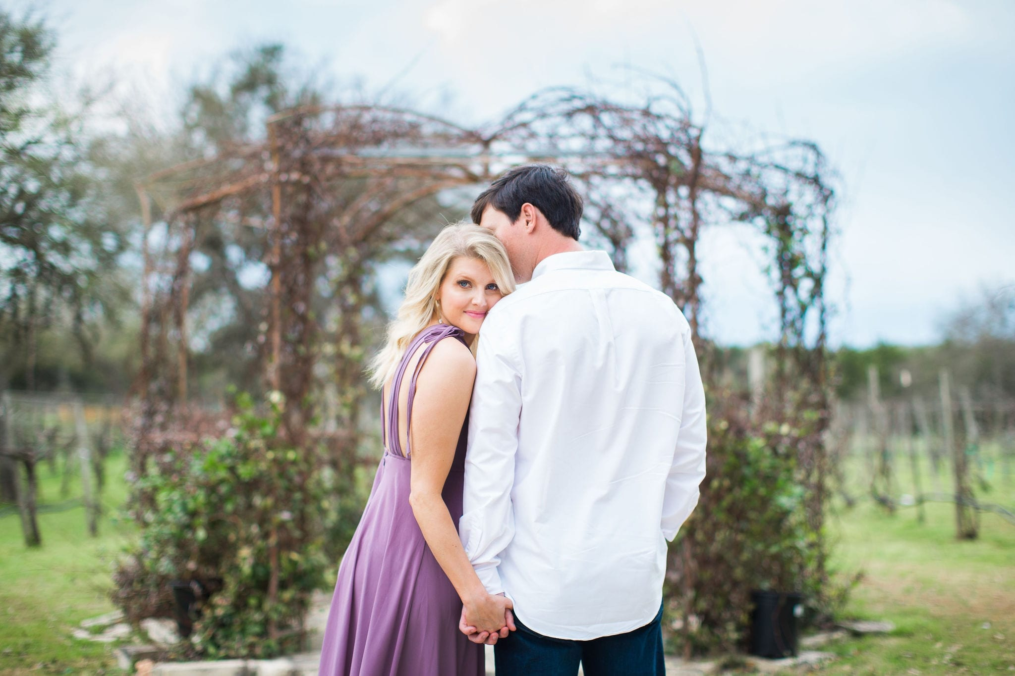 Michele Engagement session at Oak Valley Vineyards backs by gazebo
