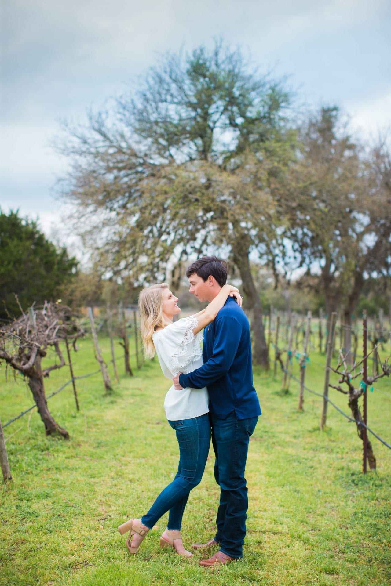 Michele Engagement session in the vines at Oak Valley Vineyards