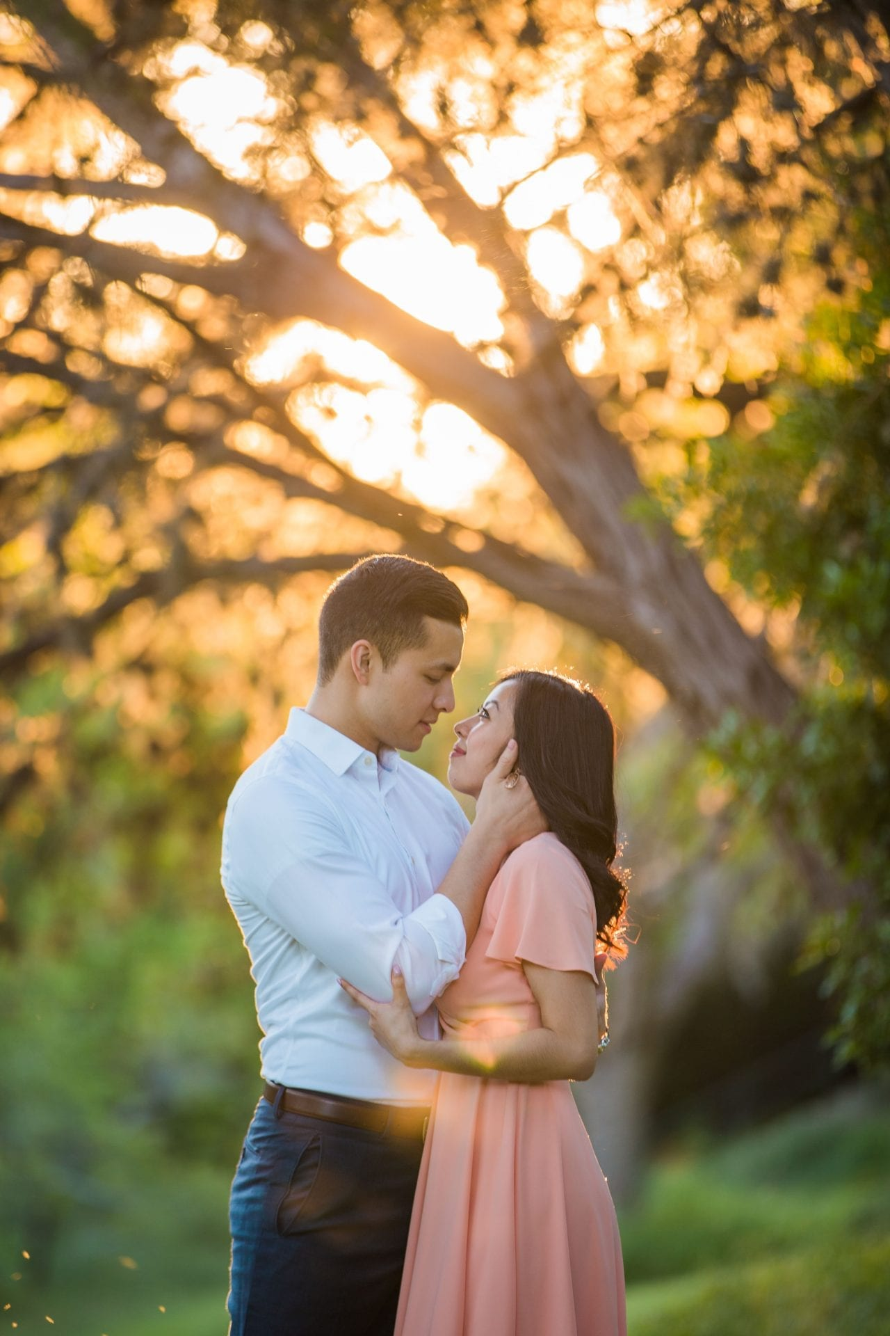 Jennifer and Nhon engagement New Braunfels sunsetlook
