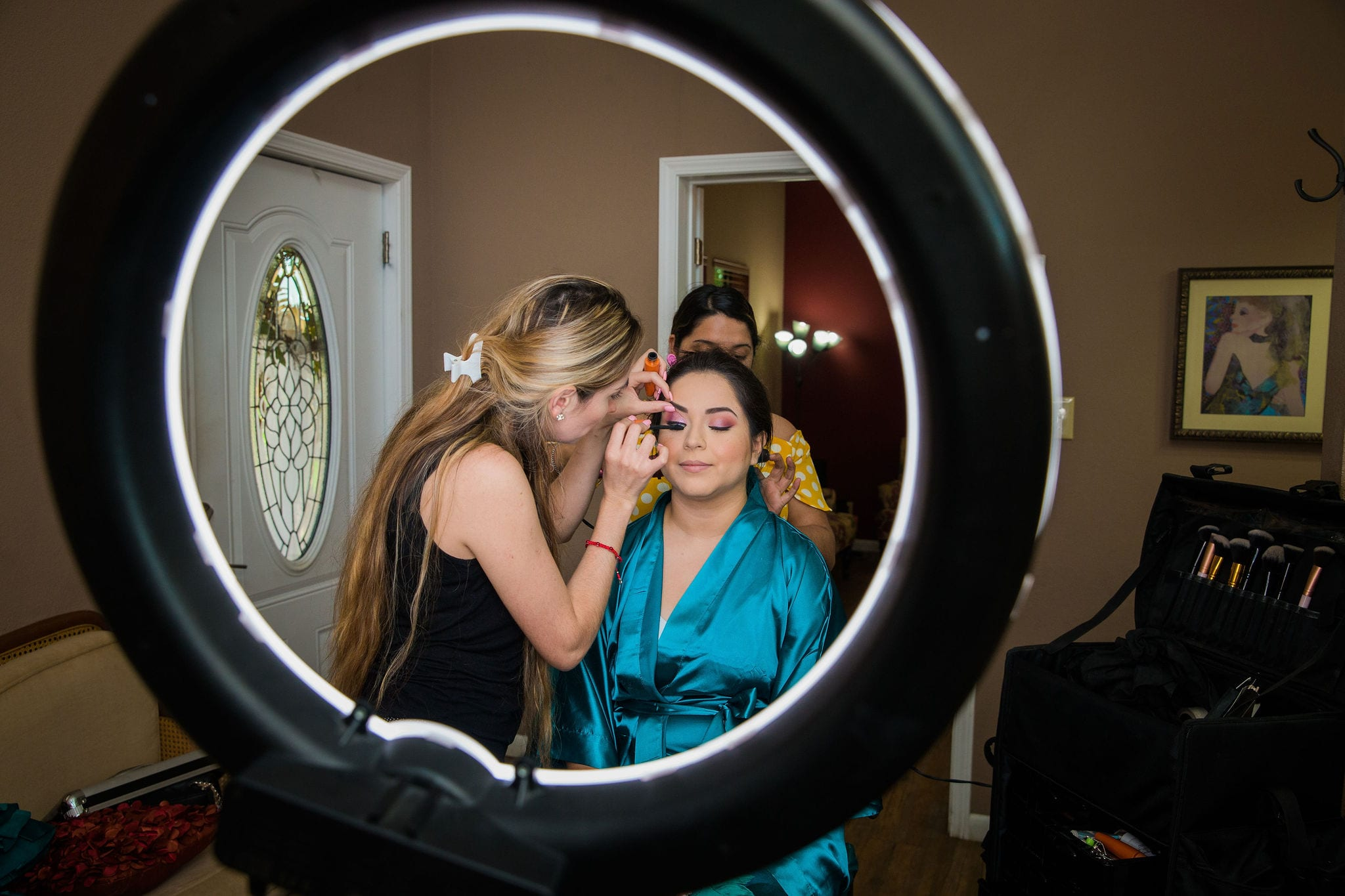 Alex and Adrien Wedding at The Gardens at Old Town makeup ring