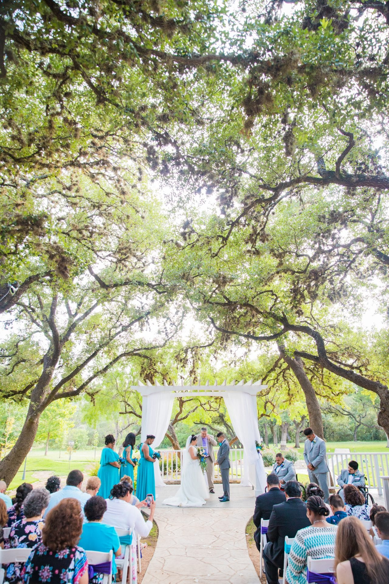 Alex and Adrien Wedding at The Gardens at Old Town ceremony