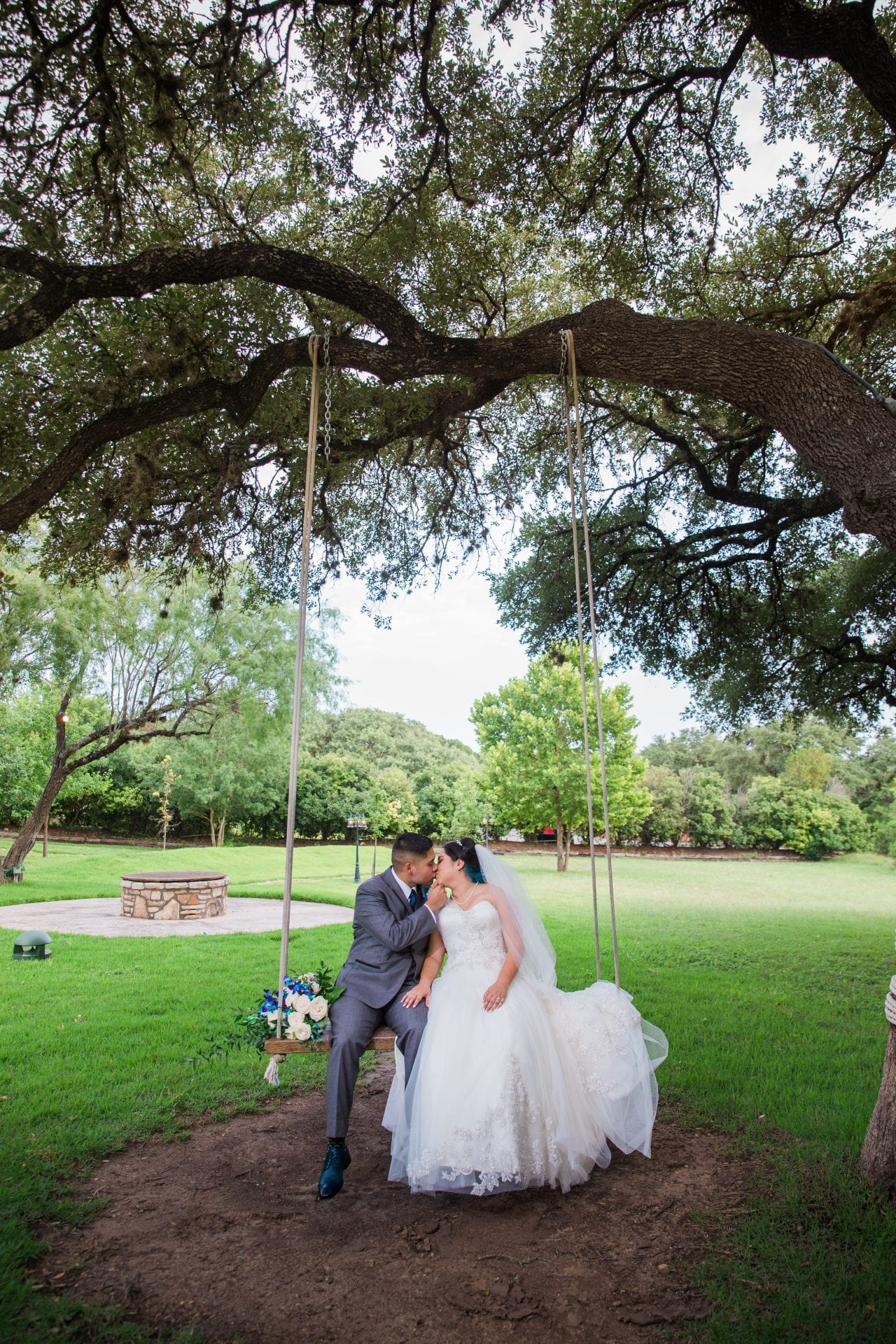 Alex and Adrien Wedding at The Gardens at Old Town swing