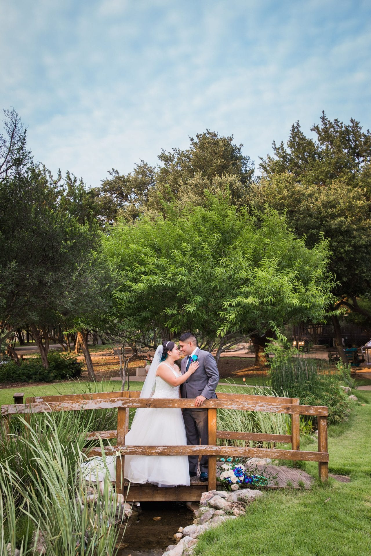 Alex and Adrien Wedding at The Gardens at Old Town in bridge