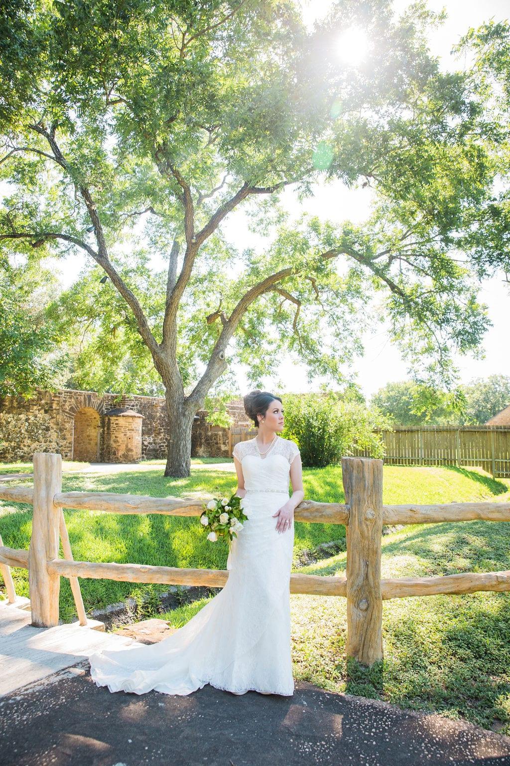 Aamber's bridal - mission San Jose on the bridge