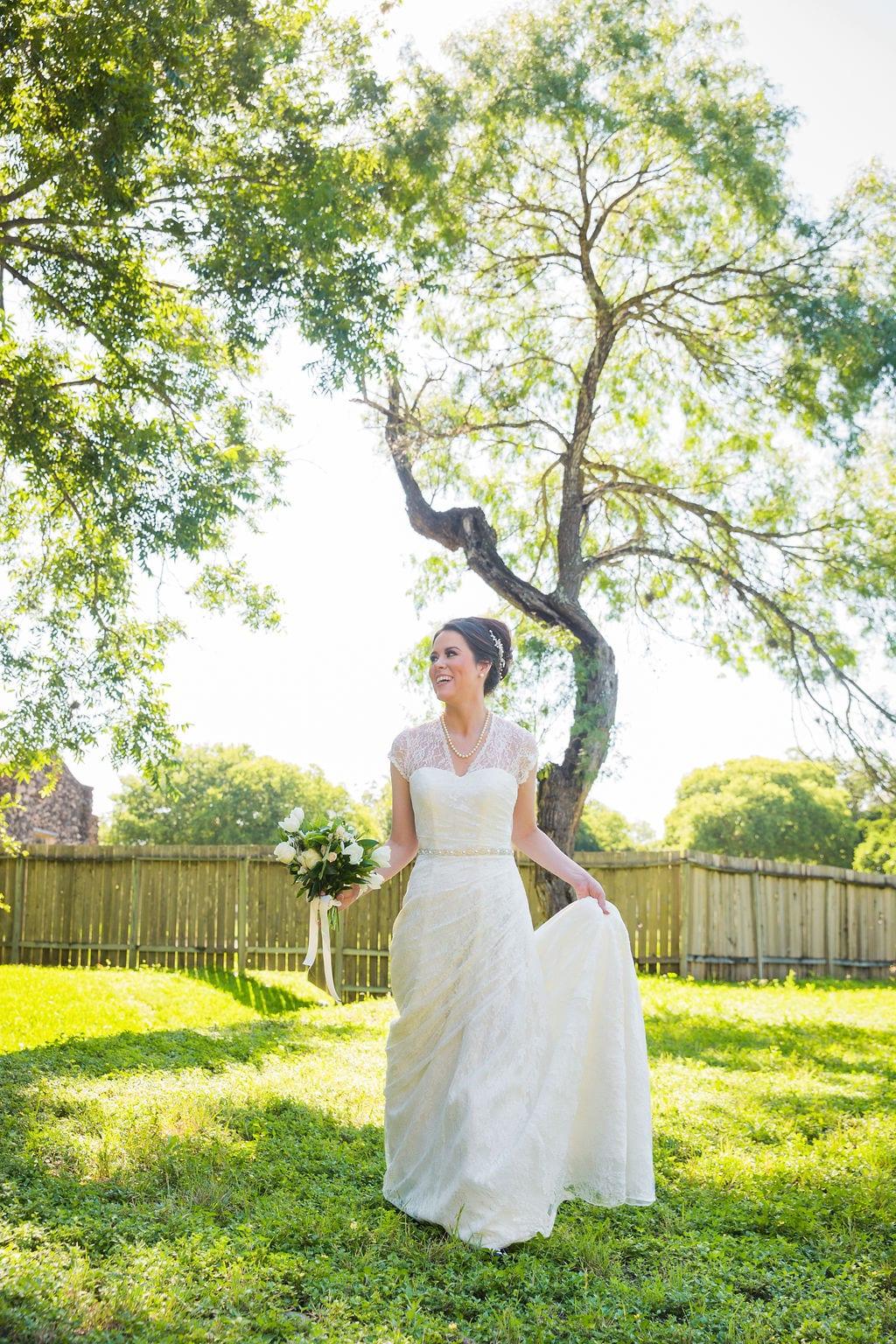 Aamber's bridal - mission San Jose Aamber walking