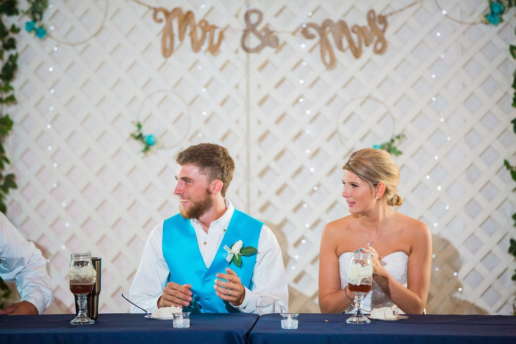 Courtney and Bearen's Wedding toast for couple