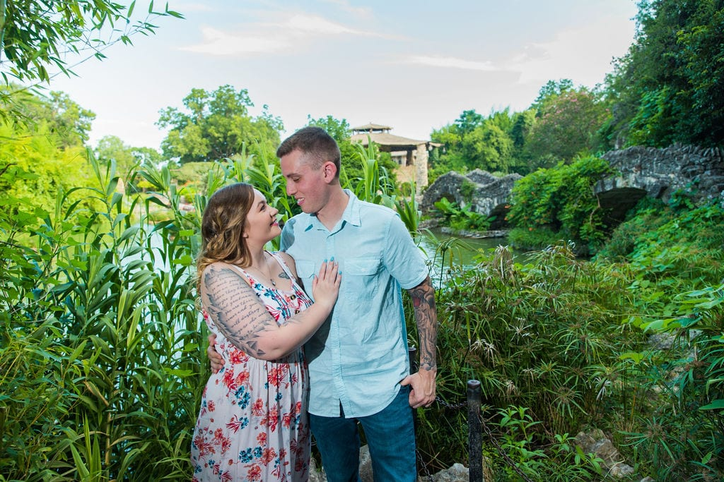 Kristina and Brandon Engagement session Japanese tea gardens