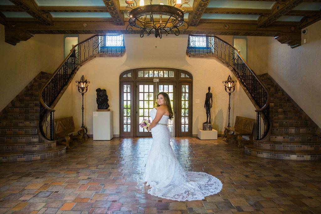 Linda's bridal session at the McNay grand entry