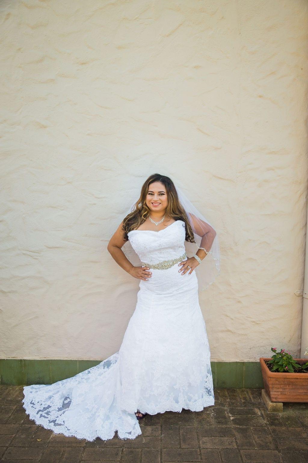 Linda's bridal session at the McNay wall sassy