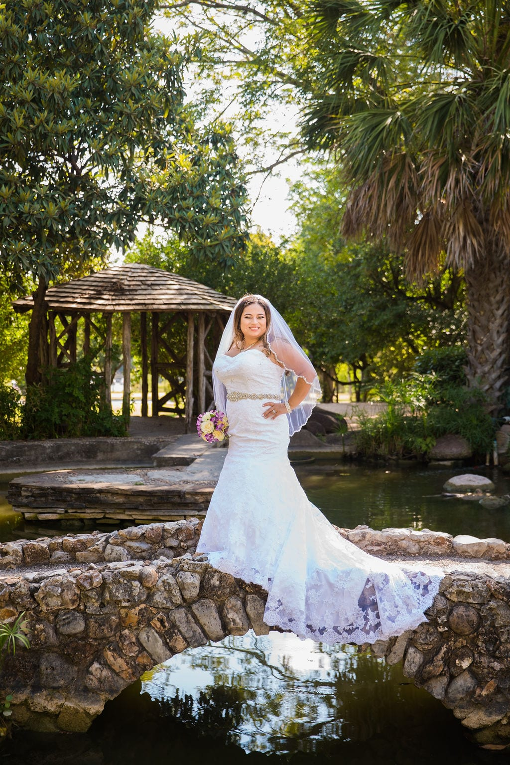 Linda's bridal session at the McNay on the bridge