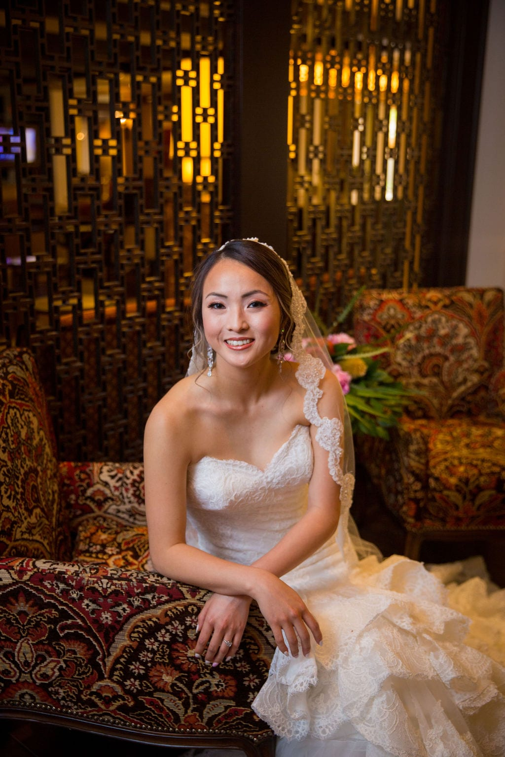 Marriott Plaza Styled shoot bride in lobby looking
