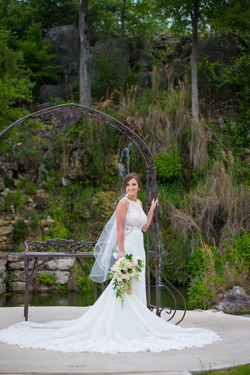 Samantha's Bridal Hidden Falls at the arch