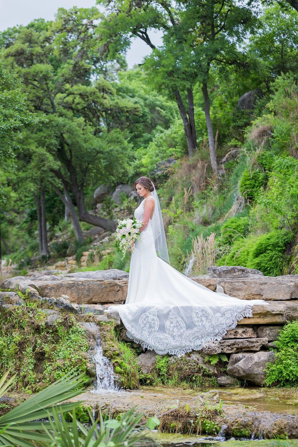 Samantha's Bridal Hidden Fall top of the falls prayer