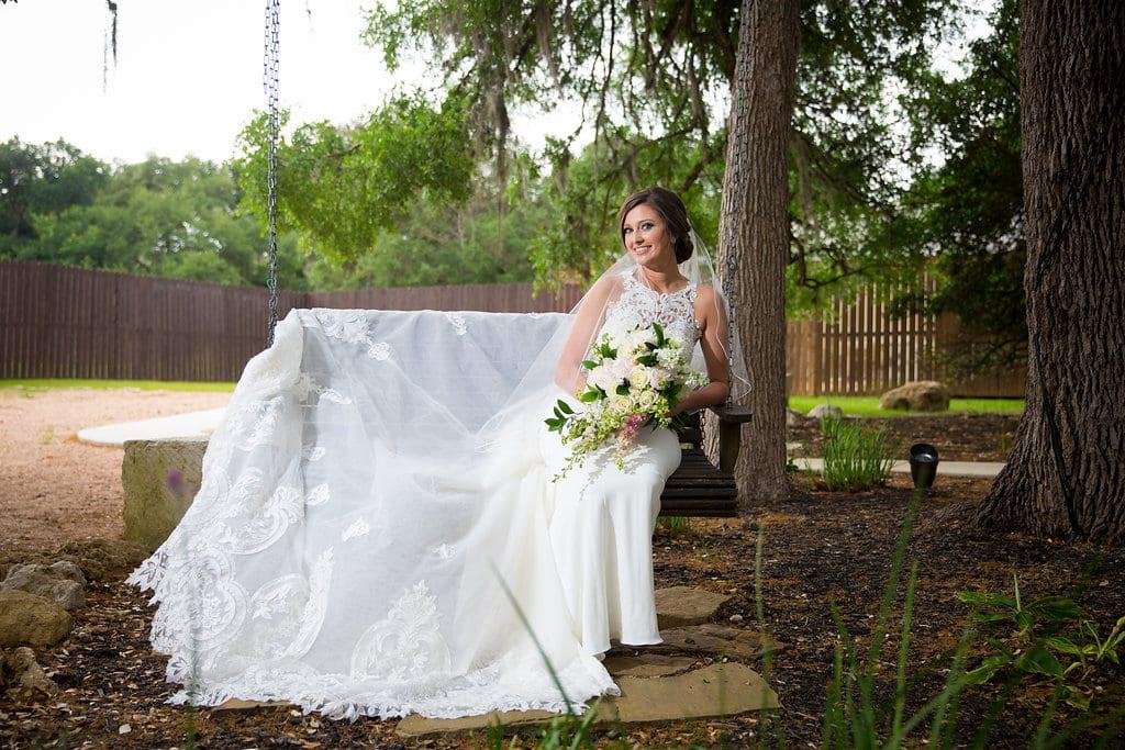 Samantha's Bridal Hidden Falls on the swing