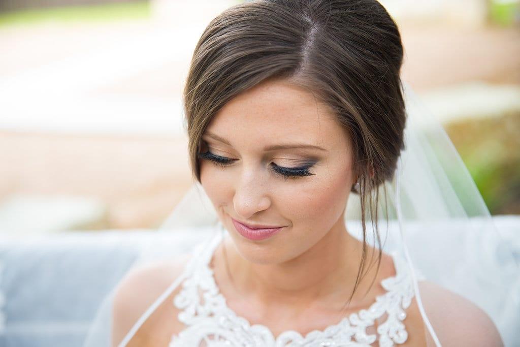 Samantha's Bridal Hidden Falls on the swing close up