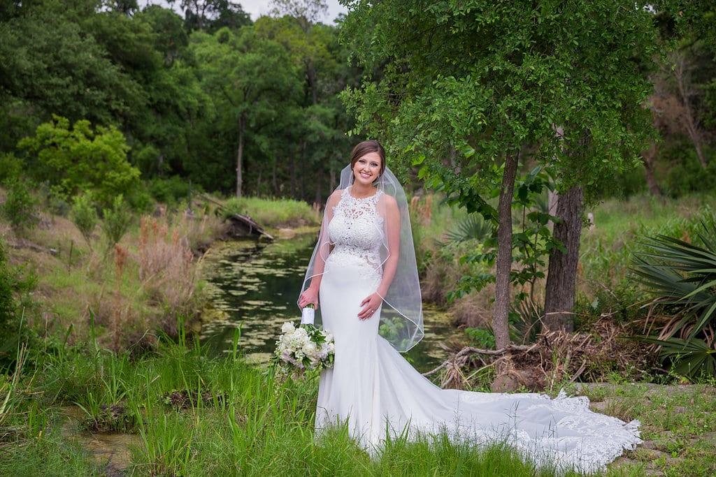 Samantha's Bridal Hidden Falls garden view