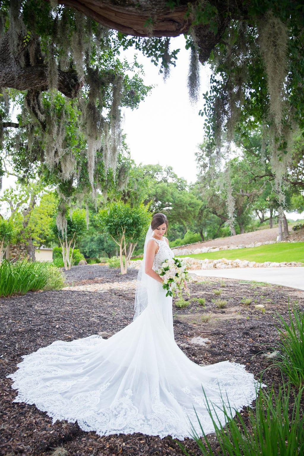 Samantha's Bridal Hidden Falls mossy tree