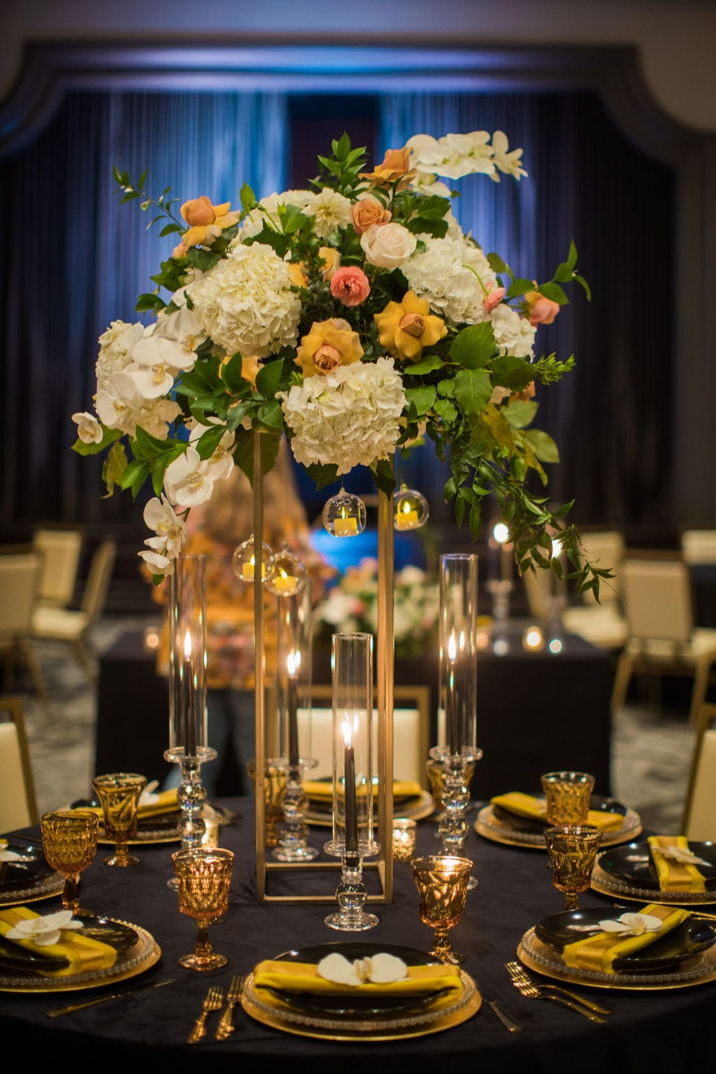 St Anthony Styled wedding flowers tall centerpiece