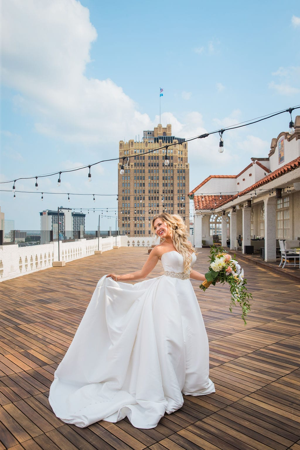St Anthony Styled wedding bride on roof top