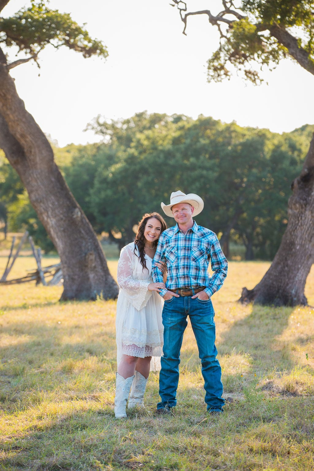 Tess -Lance Boerne, TX Engagement under the tree