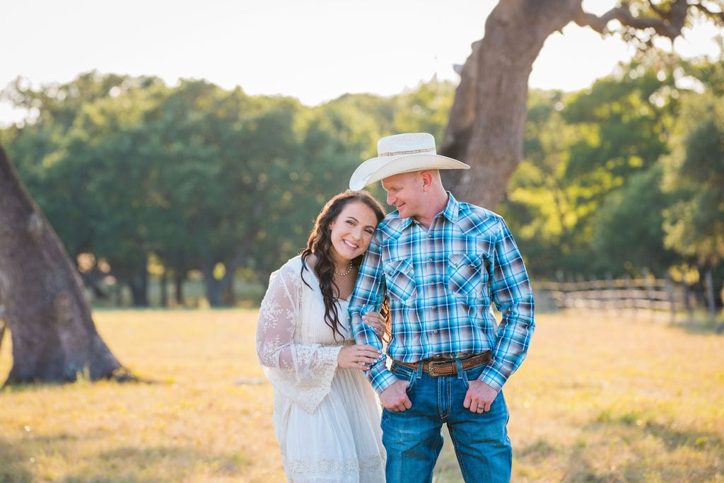 Tess -Lance Boerne, TX Engagement under the tree close up