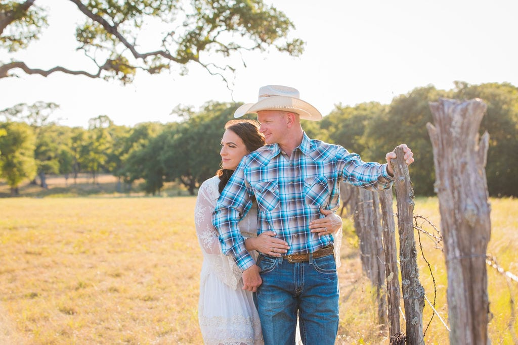 Tess -Lance Boerne, TX Engagement by the fence