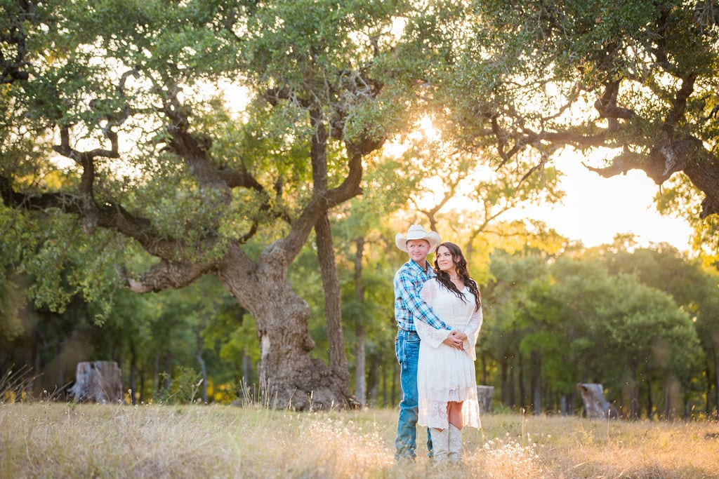 Tess -Lance Boerne, TX Engagement Portrait by tall grass