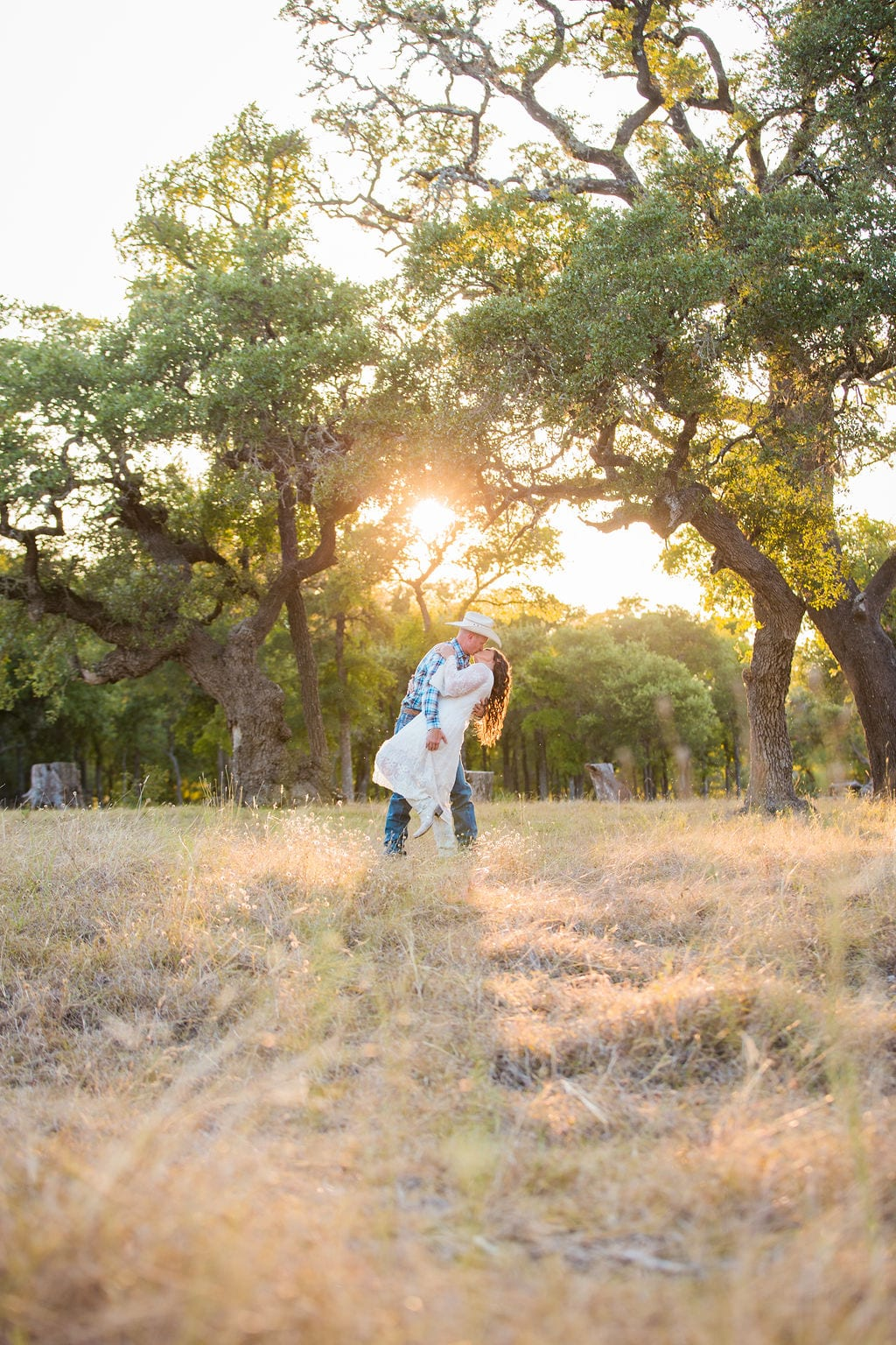 Tess -Lance Boerne, TX Engagement Portrait dip in tall grass